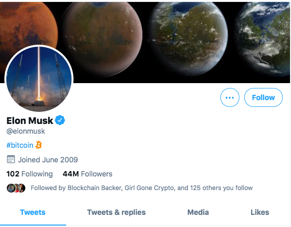 Elon Musk Cryptocurrency Twitter
